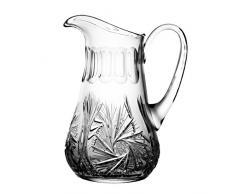 Crystaljulia 3001–Bicchieri Caraffa, Piombo cristallo, fionda motivi a stella, tradizionale, 1,5l