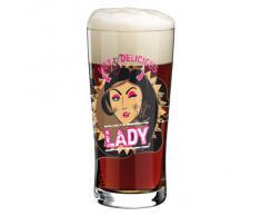 Ritzenhoff Beer & More, Bicchiere con Sottobicchiere, Bicchiere Birra, 400 ml, Design Primavera 2014, Ramona Rosenkranz, 3090005