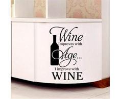 KDGJG Adesivi Facili Adesivi Murali in Vinile Utensili da Cucina Coltelleria Vino Meraviglioso