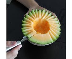 hangnuo Scavino per melone 2 in 1 Strainless acciaio Scavino per melone frutta Coltello da cucina, per Insalate, dessert, Gelato Scooper