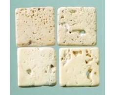 MosaixPur 10 x 10 x 4 mm, 200 g, 205 pezzi piastrelle a mosaico, in pietra naturale, colore: panna/marrone
