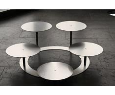 edelstahlheini.de Alzata per torta a 3 piani rotondi,in alluminio, diametro Ø 30 cm, per matrimoni