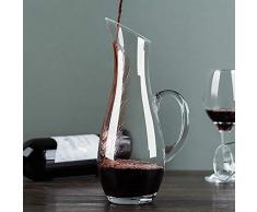 1000Ml Decanter per Vino con Manico, Decanter per Vino Rosso in Cristallo al Senza Piombo, Aeratore Decantazione per Vino