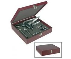 Set di accessori per sommelier, 10 pz, in scatola di legno