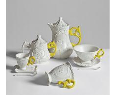 Seletti Set da Caffe in Porcellana I-Wares con Manico - Giallo