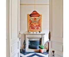 Yarussi Alvarado Tajine TA P CR - Lampada pendente da soffitto, colore: Rosso