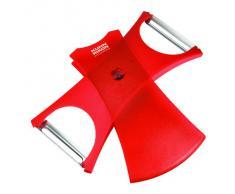 KUHN RIKON 22250 Design Line KR DL - Pelapatate 2 in 1, colore: Rosso