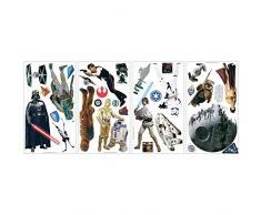 Joy Toy Star Wars Adesivi da Parete 4 Fogli, Multicolore, 13x2,5x27 cm