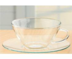 Bohemia Cristal 093/006/024 Set 6 bicchieri da tè con piattino 0,2 l