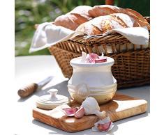 Le Creuset, Porta Aglio con Coperchio, Gres, Crema