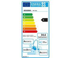 Severin My 7115 Aspirapolvere Multiciclonico Senza Sacco, Argento [Classe di efficienza energetica C]
