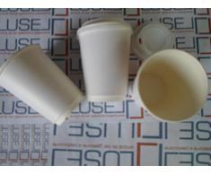 PZ 200 BICCHIERI IN CARTA BIANCO LATTE ML 400 PER CIOCCOLATA CALDA CAPPUCCINO CAFFE' E BEVANDE CALDE BICCHIERE CARTONE TERMICO PER CAFFE' + COPERCHIO