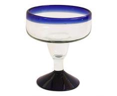 Vetro di Margarita - Fatto a Mano - Dimensioni Medie – Vetro Riciclato - Verde Ben Amalgamato - Bicchiere Singolo
