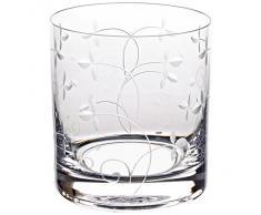 """Bicchiere, bicchiere acqua, tumbler """"PETITE DAISY"""" 250ml, trasparente, vetro di alta qualità, stile moderno (GERMAN CRYSTAL powered by CRISTALICA)"""