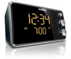 Philips AJ3551/12 Radiosveglia con Sintonizzazione Digitale, Nero