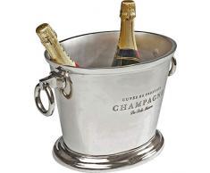 Kare 61301 Secchiello per Vino Champagne Du Belle, Alluminio nichelato, Argento