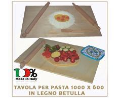 3legno Asse Da Pasta Legno Di Betulla Tavolo Spianatoia Stendipasta 100X60 Cm Made Italy