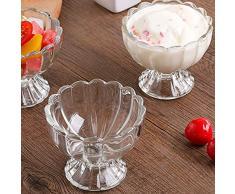 Bolange Ciotole in vetro per dessert con gelato, tazze per dessert in chiaro Ciotola per gelato in Coppa trasparente per gelato