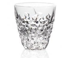 """Bicchiere da whisky, collezione """"KATARINA GOLD"""", calice acqua, cristallo trasparente, 9 cm (GERMAN CRYSTAL powered by CRISTALICA)"""