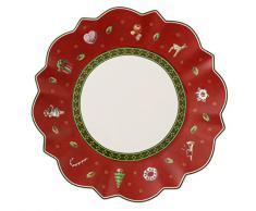 Villeroy & Boch Toys Delight Piatto Pane, Acciaio, Rosso, 17x17x0.1 cm
