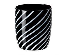 """Bicchiere da succo, bicchiere da acqua, bicchiere in vetro, collezione """"NIGHT - n - DAY"""", lavorato a mano, 10 cm, nero/bianco, stile moderno (AMARA DESIGN powered by CRISTALICA)"""