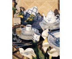 Villeroy & Boch Vieux Luxembourg Piatto Fondo, 23 cm, Porcellana Premium, Bianco/Blu