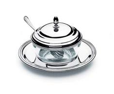 SWEET HOME Formaggiera argentata argento stile Inglese - cod. 569089 - Lun.17 cm - Lar.17 cm - Ø17 cm by Varotto & Co.