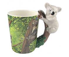 Puckator Zoo Tazza con Manico a Forma di Koala, Ceramica, Bianco