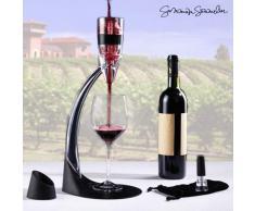 Summum Sommelier Decanter di Vino Professionale, Nero, 16.5 x 40 x 18.5 cm, 3 Pezzi