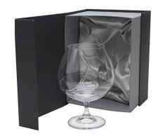 la galaica Set di 1 Calice da Cognac in Cristallo - per Cognac o Brandy - Collezione Gastro - intagliata a Mano - Collezione Gastro.