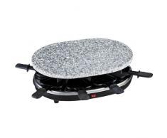 H.Koenig RP85 Raclette per 8 Persone, Funzione Raclette/Piastra di cottura in granito, 900W