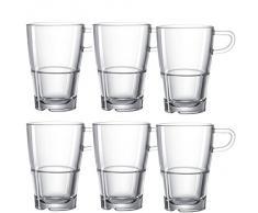 Leonardo 014650 Set 6 Bicchiere Latte Macchiato Senso