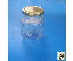 VASETTO in vetro per MIELE 400 g (QUADRATO) - 314 ml - Conf. da 24 pezzi