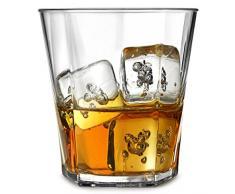 Elite Penthouse policarbonato Rocce Bicchieri Da/255 ml – Set di 4 bicchieri in plastica, in plastica, rocce, bicchieri in plastica riutilizzabile, in policarbonato infrangibile
