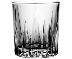 Crystaljulia 4327 – Bicchieri Bicchieri da Whisky, cristallo al piombo, moderno, 6 pezzi, in set, 340 ml