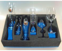 HeoSolution Set di Bicchieri per Camper, roulotte e Barche Set 2010 del Vino della Birra Spumante