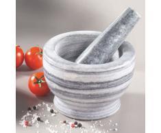 TABLE&COOK Générique JXMPM308 - Mortaio in marmo piccolo con pestello 11 cm, colore: Bianco