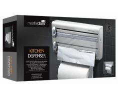 Kitchen Craft - Portarotoli in Acciaio Inossidabile Master Class, per Carta da Cucina, Pellicola e Alluminio