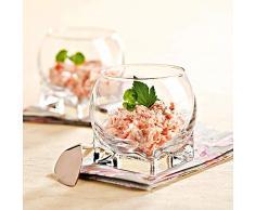 Bicchieri Tazza di Budino di Vetro Senza Piombo Creativa Piccola Tazza di Gelato Coppa di Dessert, Tromba 120 Ml/Singolo (Mini!)