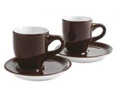 Kahla Café Sommelier 21D248A69122C - Set di tazzine da espresso doppio, 4 pezzi, colore cioccolato