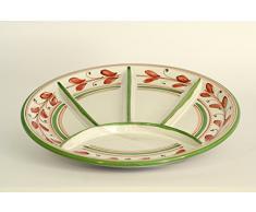 Piatto da antipasti in ceramica, antipastiera Ø 24 in ceramica di Caltagirone decorato a mano