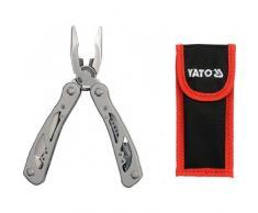 Yato YT-Attrezzo multiuso con pinze, Coltello pieghevole, Coltello da tasca in acciaio INOX, 9 pezzi (YT - 76043)