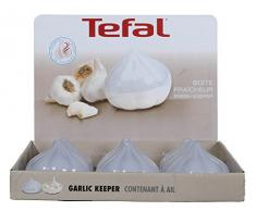 Tefal k0640116 Fresh Kitchen X9 Contenitore per aglio in plastica, bianco, 8,3 x 10 x 10 cm
