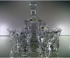 Bohemia Whisky – Set di 6 Bicchieri da Whisky + Caraffa in cristallo al piombo