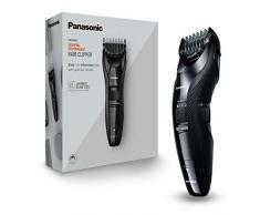 Panasonic ER-GC53-K503 Tagliacapelli, Taglio 1-10 mm in 19 Step e Taglio 0.5 mm senza Pettine Accessorio, Utilizzo con o senza Cavo Elettrico, Lavabile, Nero