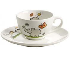 Ritzenhoff Tazzina da caffè Espresso in Porcellana con Piattino, 60 ml, Design 2013