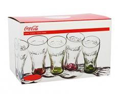 Coca Cola-Set 6 Bicchieri Colori Assortiti Cl30 Art 95005
