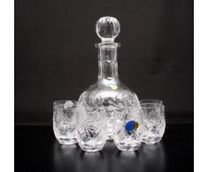 """Combinazione, stile """"russo"""", in cristallo, 12 Oz-Caraffa, decanter & 6 bicchierini da Shot, confezione a forma di """""""""""