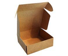 Kurtzy Scatoline Carta Kraft Marroni (50pz) - Scatola Regalo con Coperchio 12x12x5cm - Scatola Regalo Cartone con Coperchio Facile da Assemblare - Scatole Bomboniere per Feste, Compleanni e Matrimoni