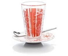 Ritzenhoff 2610006 Rashid F11 - Bicchiere per latte macchiato con sottobicchiere